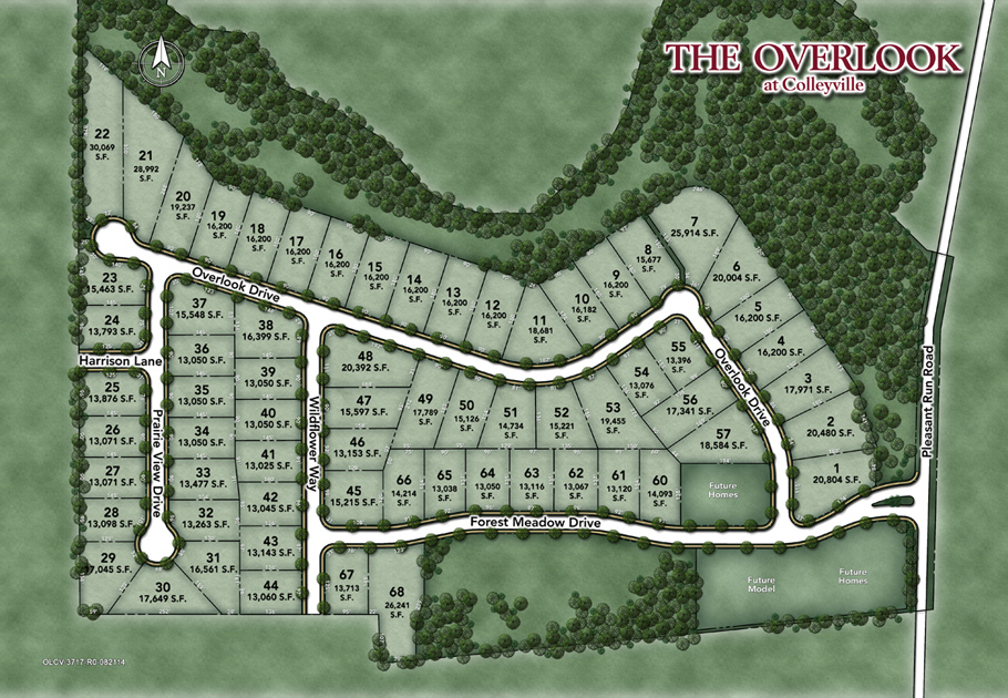 The Overlook At Colleyville Site Plan
