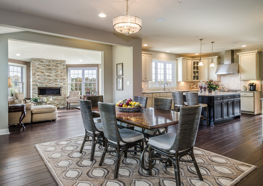 The estates at cedarday luxury new homes in bel air md for Model home kitchen images