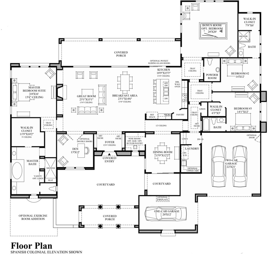 toll brothers page not found upper level floor plan spanish colonial residence by greta