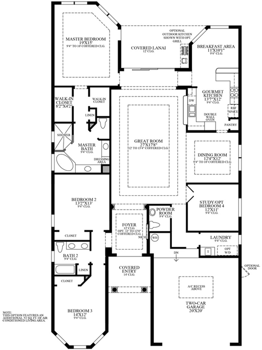 Florida luxury new homes for sale by toll brothers for Design your own bedroom floor plan