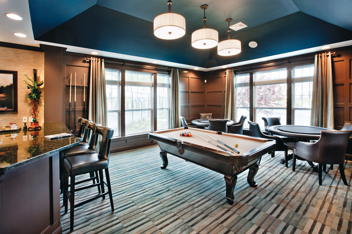Challenge friends to a game of billiards