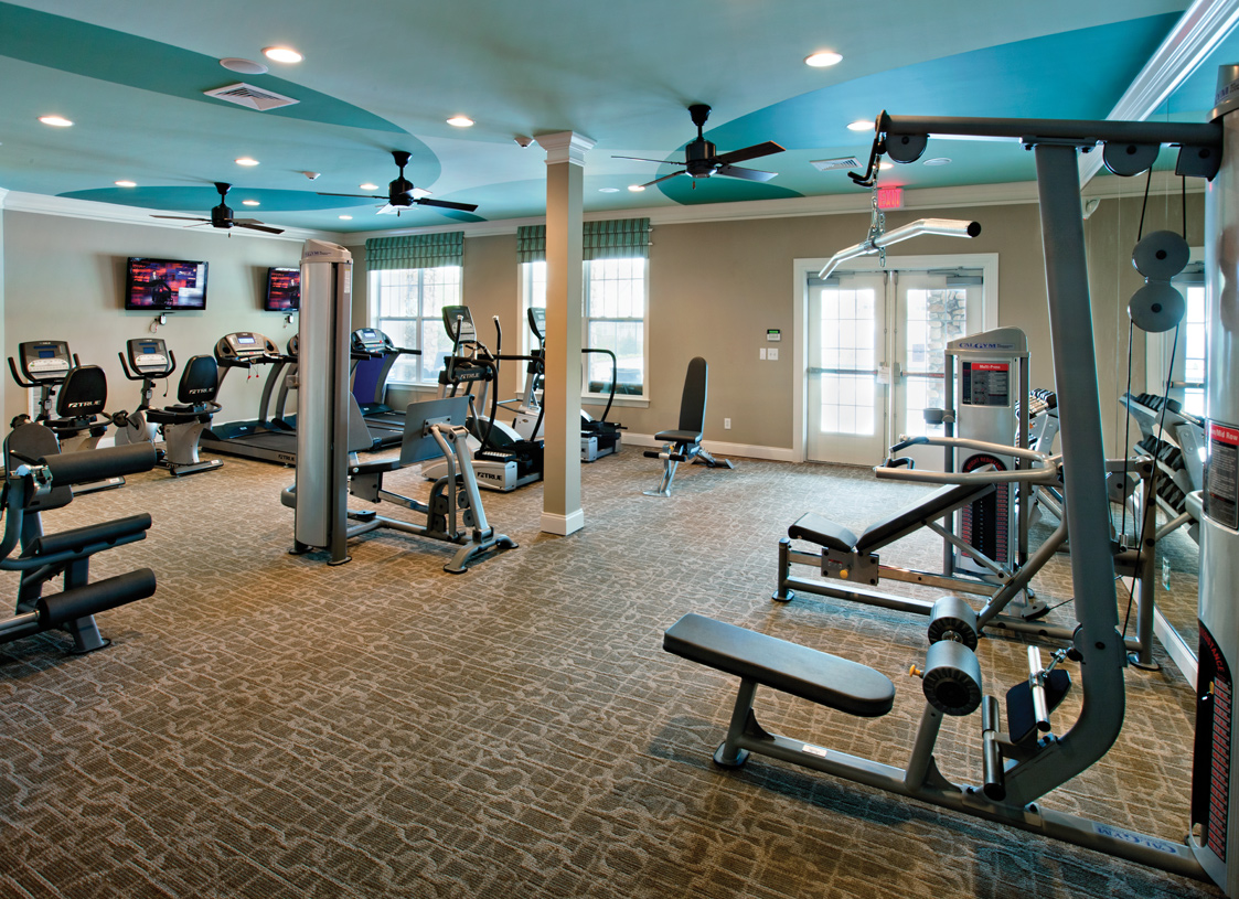 Get in shape at the fitness center