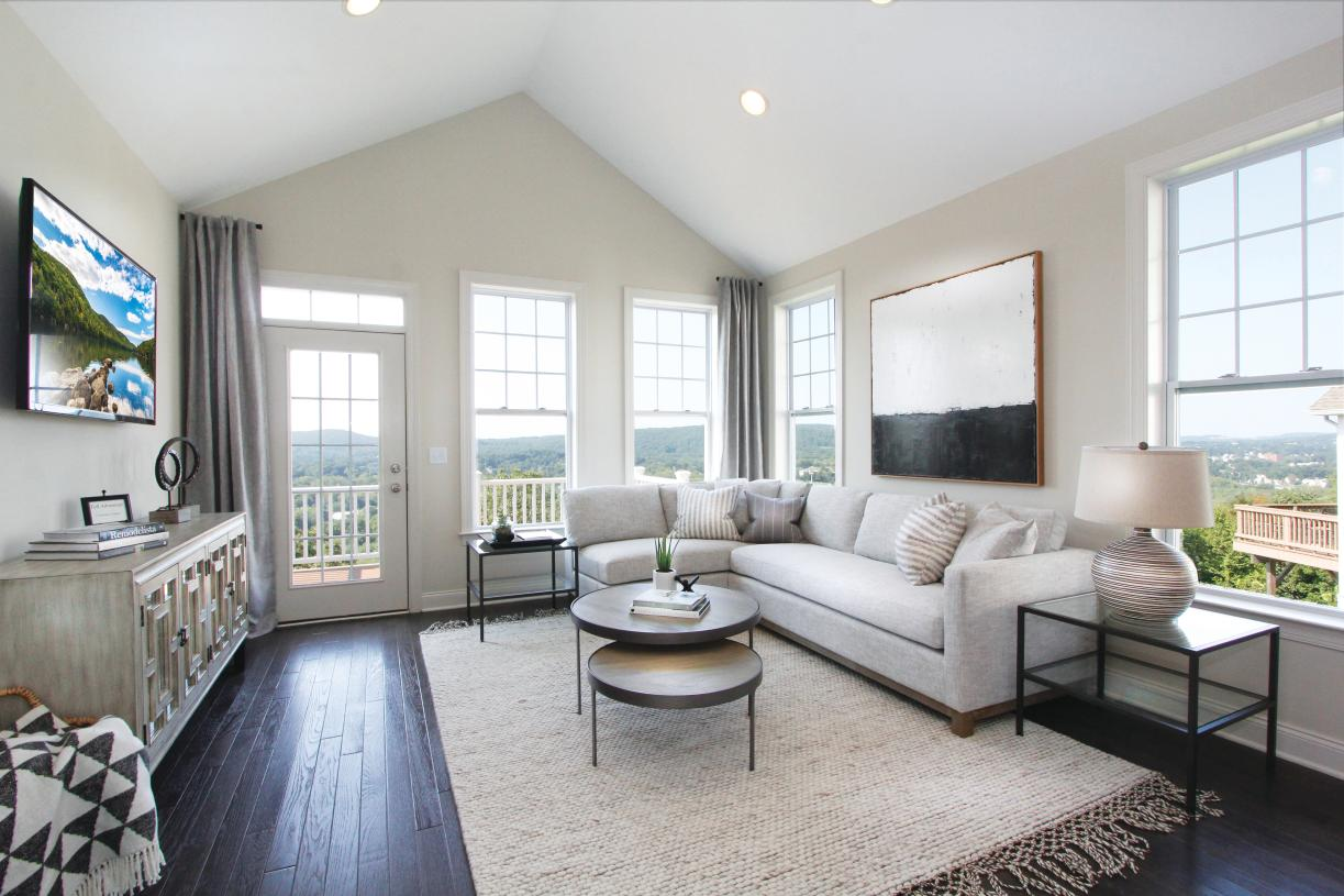 Expansive living room with breathtaking views just off your deck