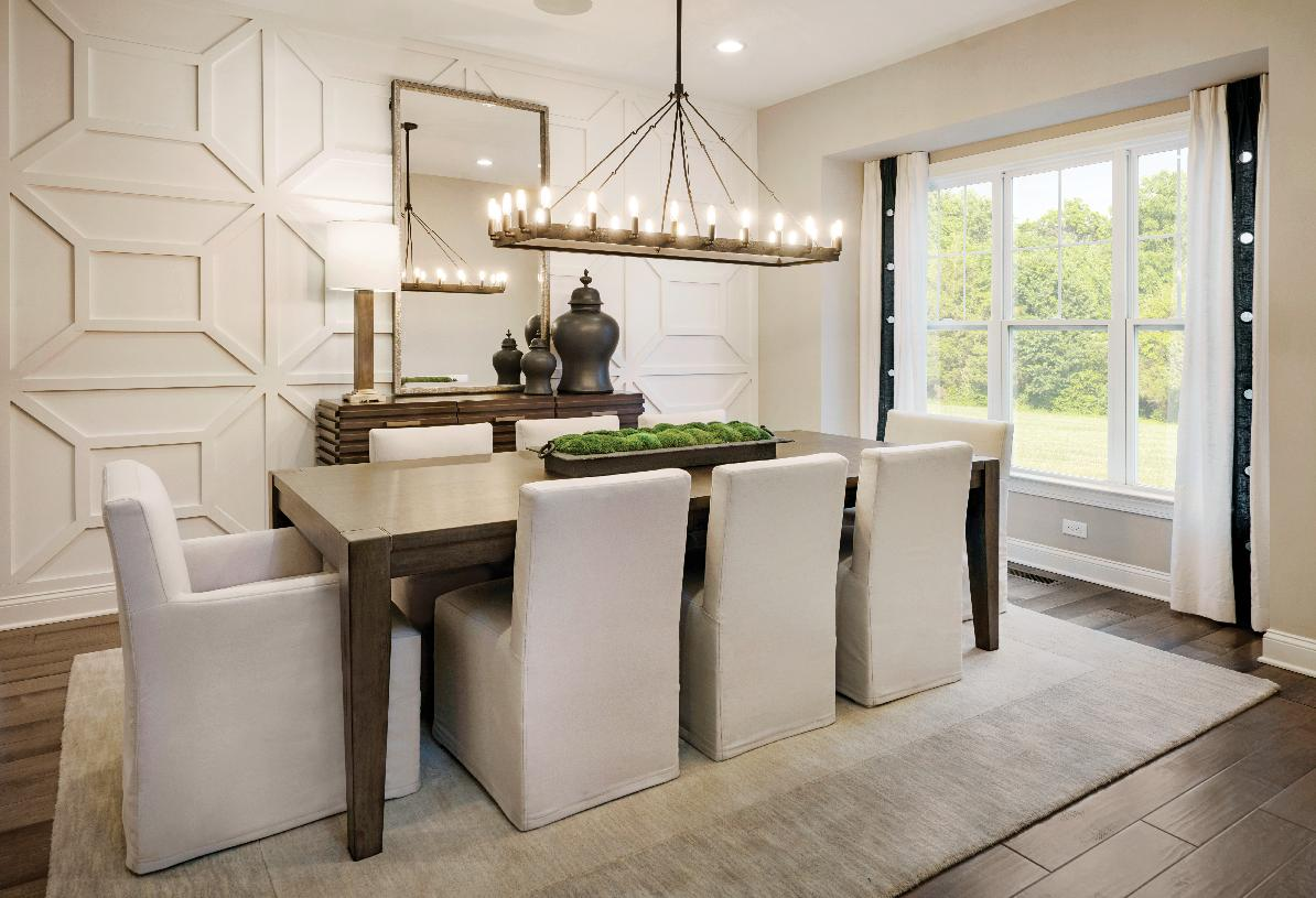 Spacious dining room for entertaining