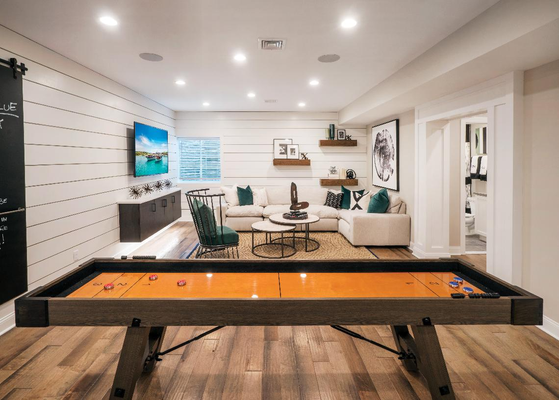 Finished basement with Great Room