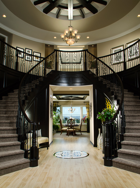 New luxury homes for sale in moorpark ca the pinnacle for Double curved staircase