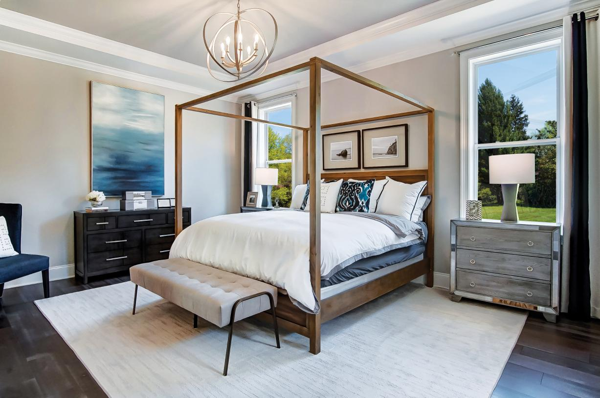 Large primary suite with expansive walk-in closet