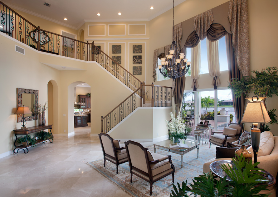 Bellaria luxury new homes in windermere fl Two story living room decorating ideas
