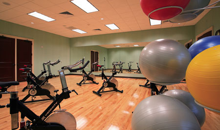 The Group Fitness Room at the Family Activities Club
