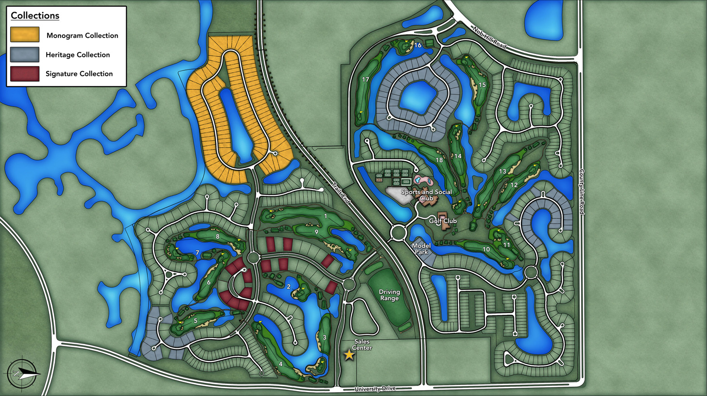 Parkland Golf & Country Club - Monogram Collection Overall Site Plan