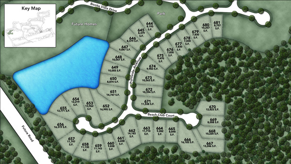 Coastal Oaks at Nocatee - Heritage Collection Portside Site Plan