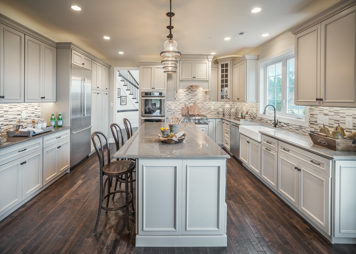 Spacious Brandeis kitchen features large island and plenty of cabinet space