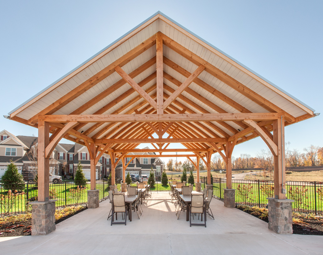 Spend time with neighbors at the outdoor pavilion