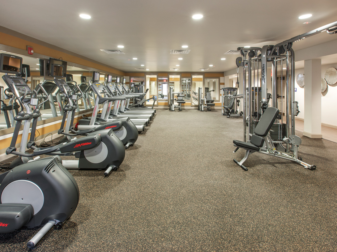 Take advantage of the fitness center and other clubhouse amenities
