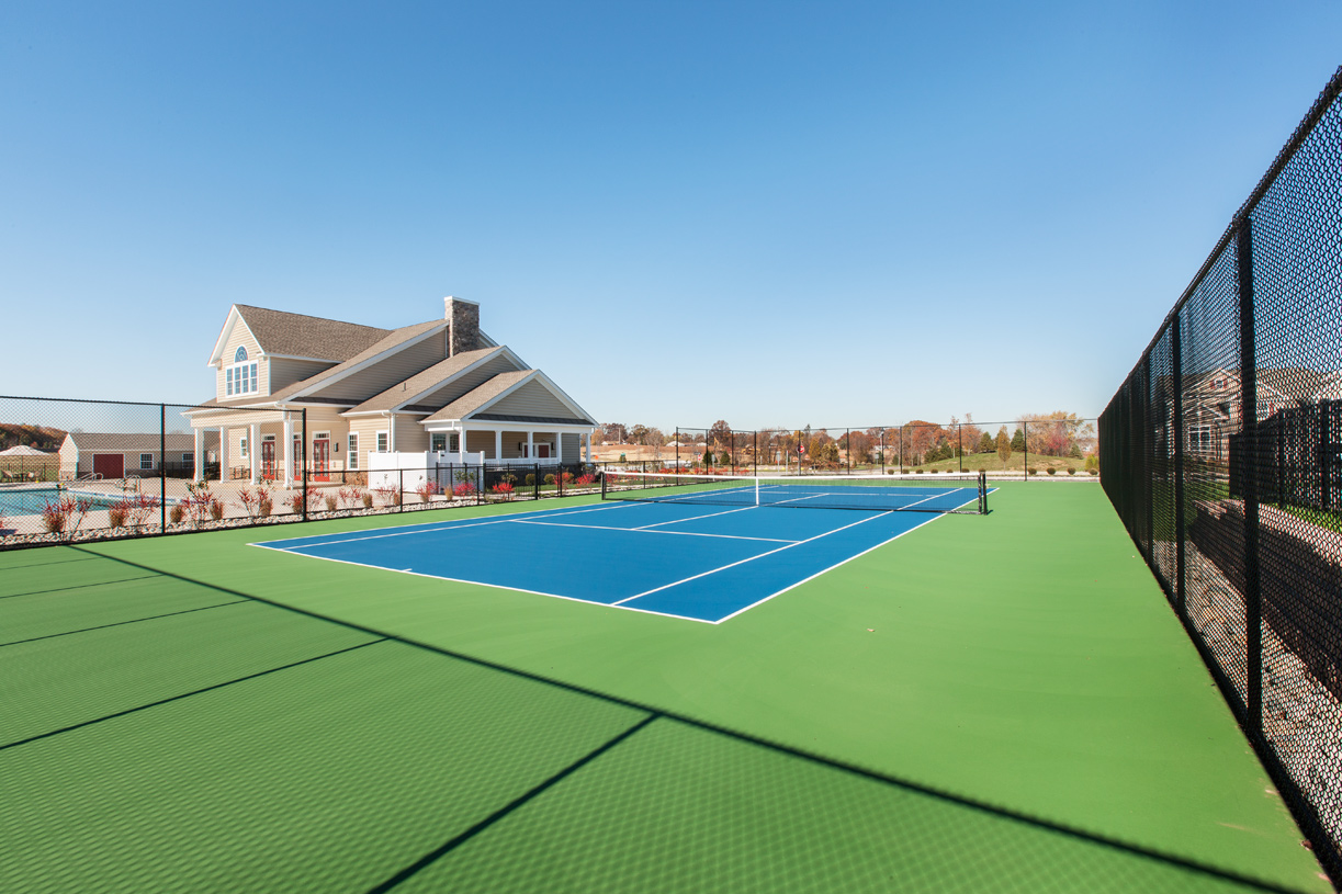 Play tennis on a beautiful day