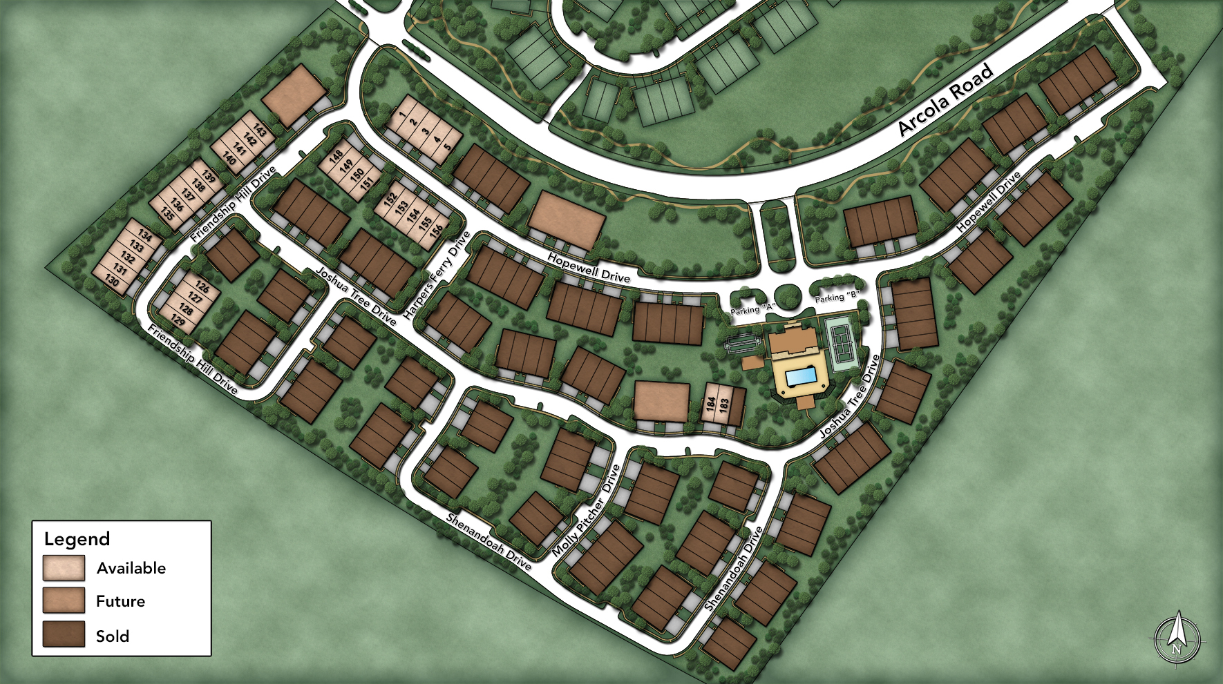 White Springs at Providence - The Regency Collection Site Plan
