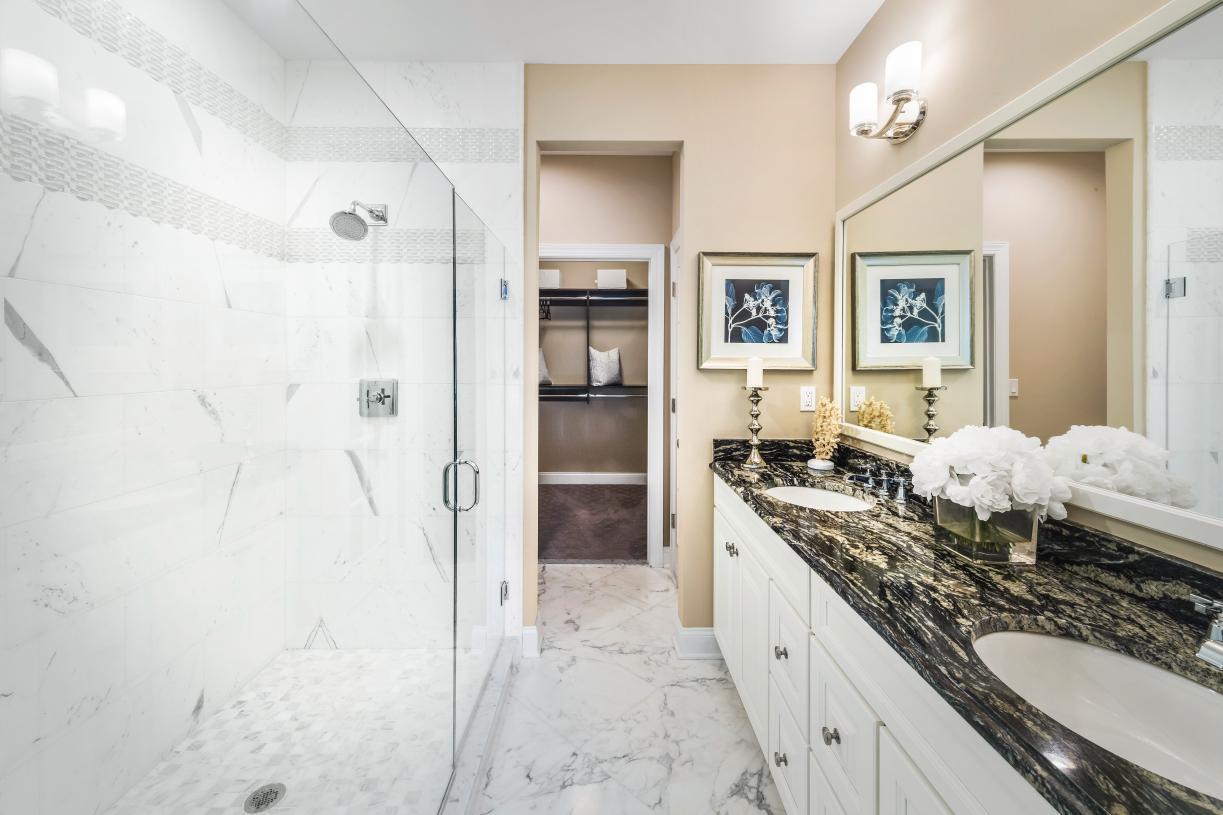 Luxurious spa-like primary bathroom