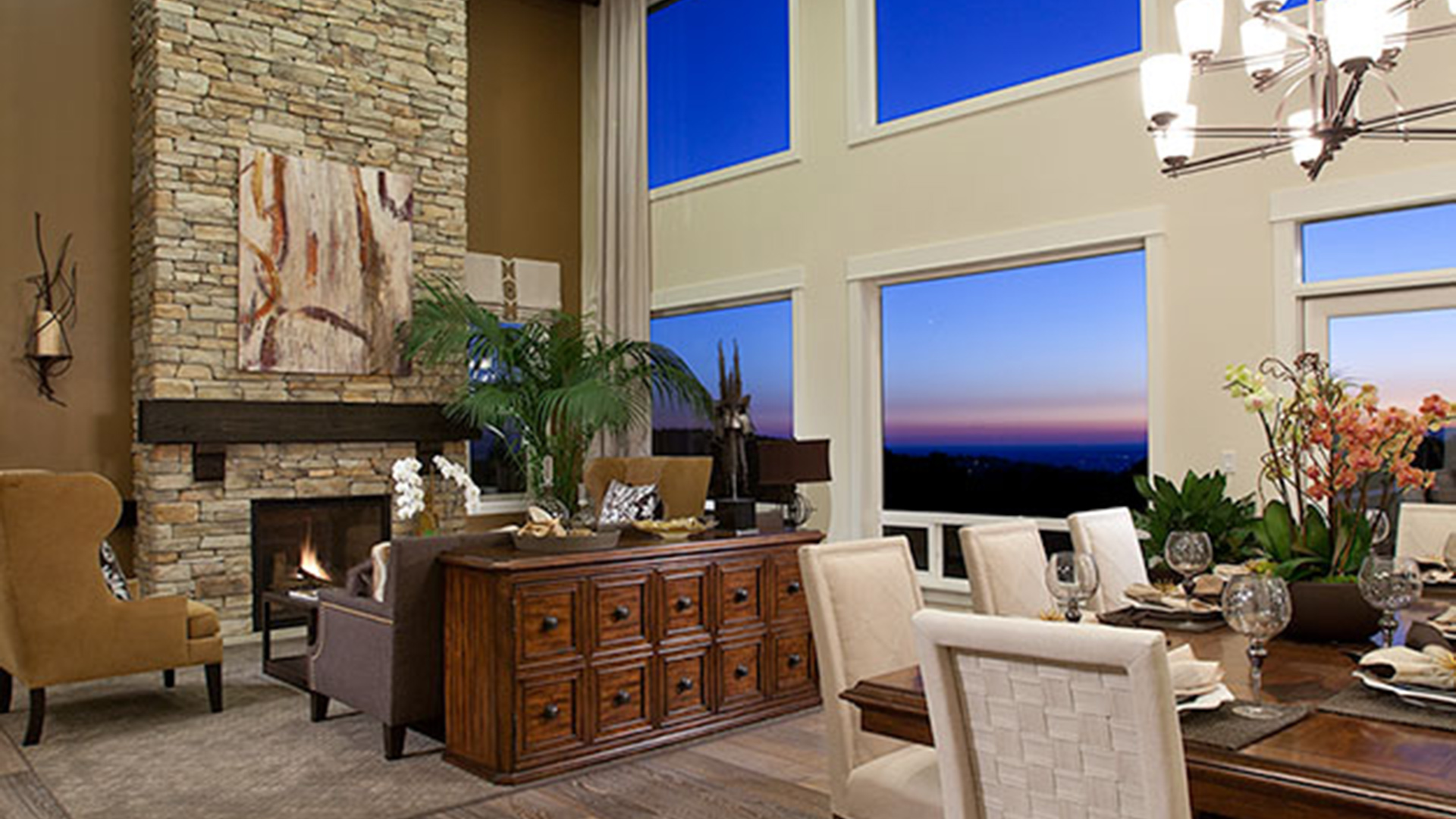 With stunning views this great room showcases