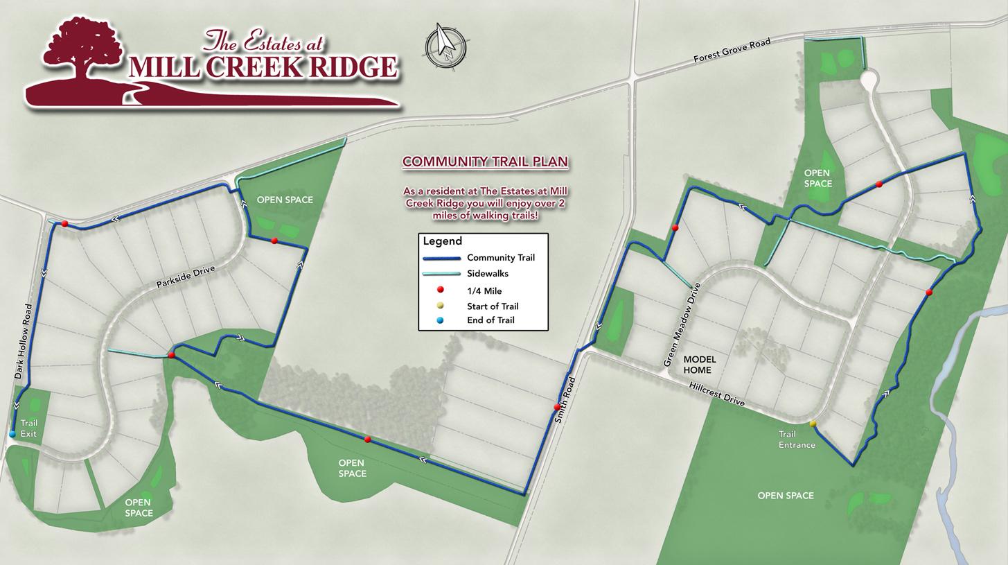 Estates at Mill Creek Ridge Community Trail Map