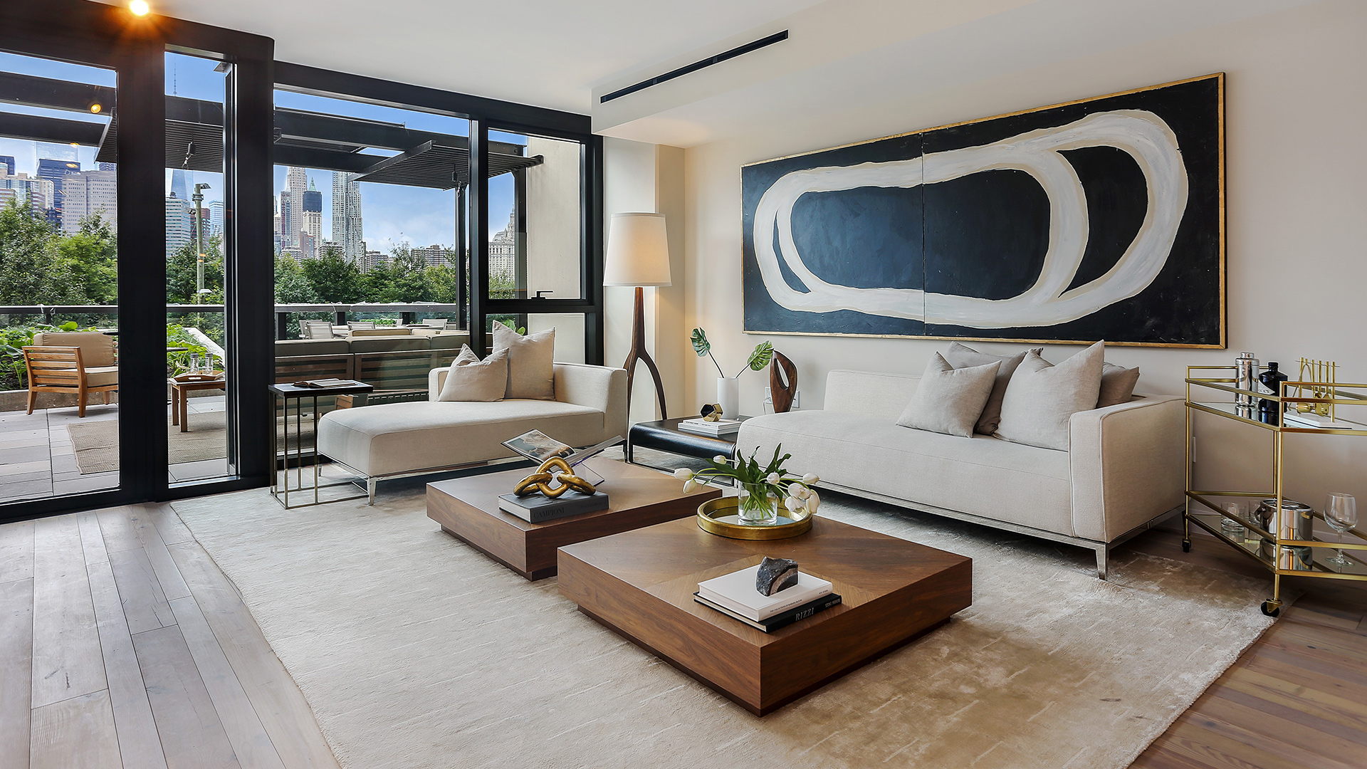 Condos for sale in brooklyn pierhouse at brooklyn bridge for Living room brooklyn 86 st