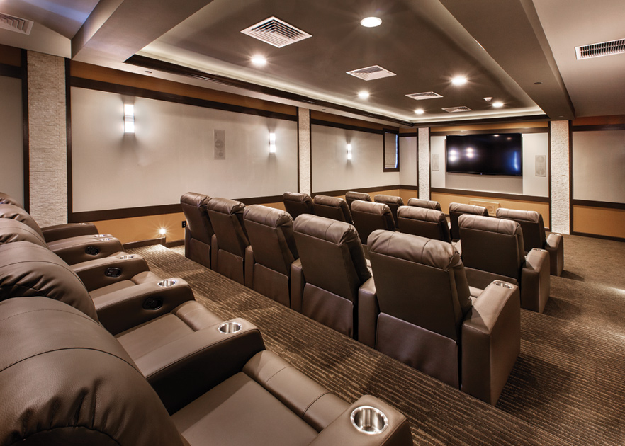 Bring Family And Friends To Watch A Movie In The Theatre Room