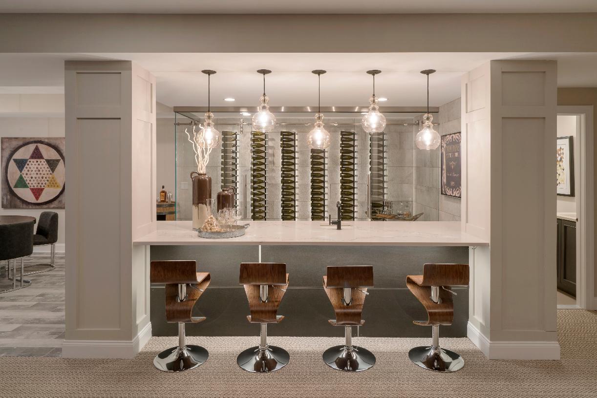 Wine room and bar area