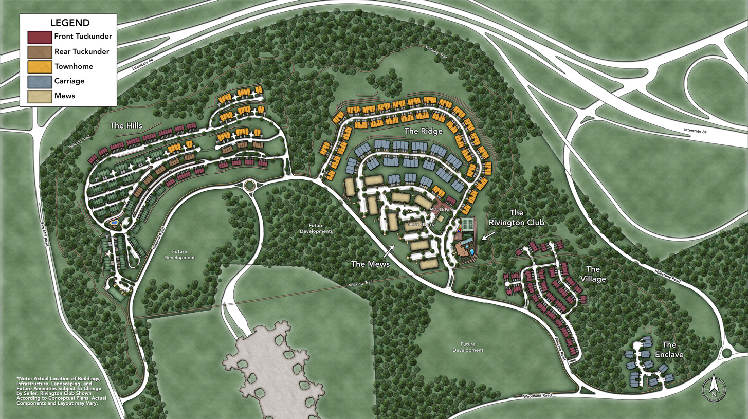 Rivington by Toll Brothers Overall Site Plan