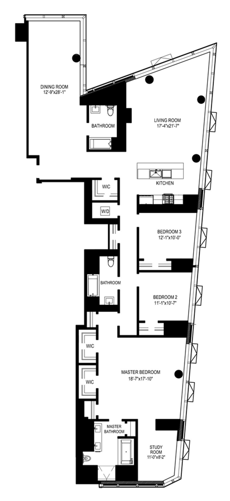 The dakota new york city floor plans for Dakota floor plan