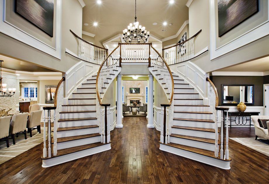 New luxury homes for sale in newtown square pa liseter for Double curved staircase