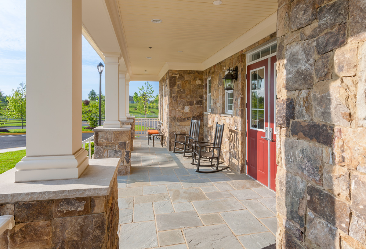 Clubhouse front porch