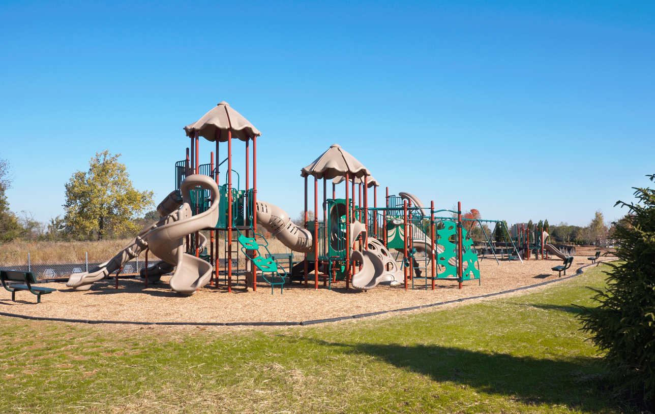 Play at the community playgrounds
