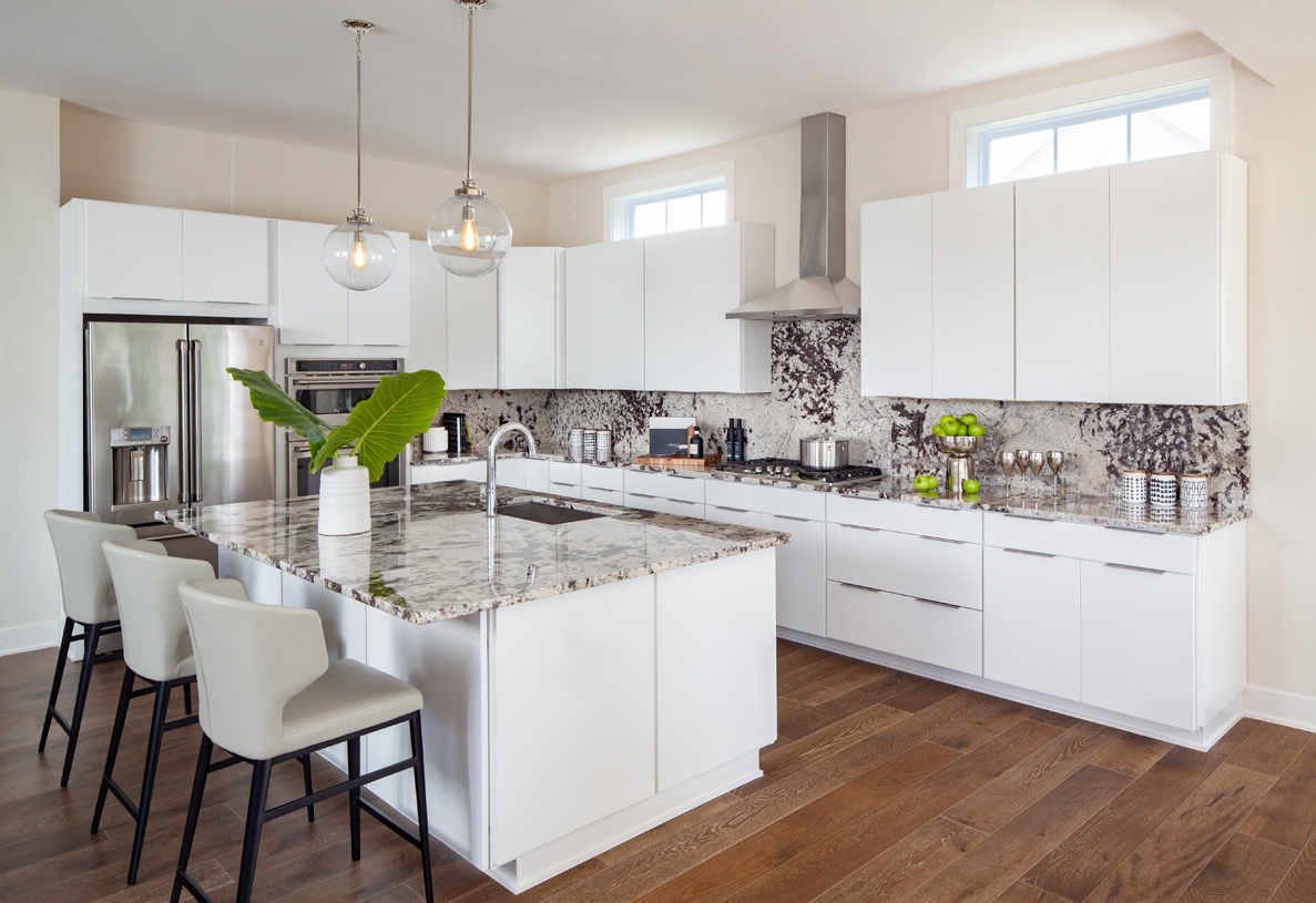Expansive kitchens with modern finishes