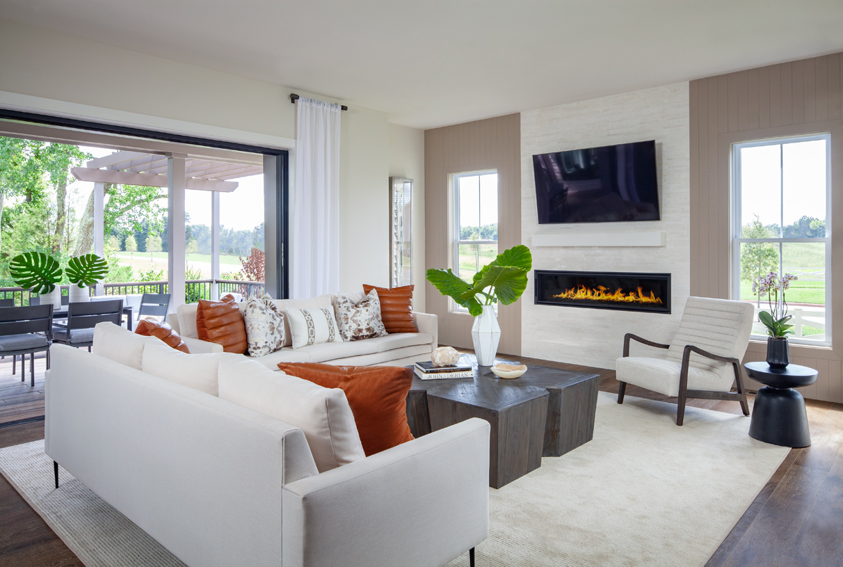 Beautiful great room with gas fireplace