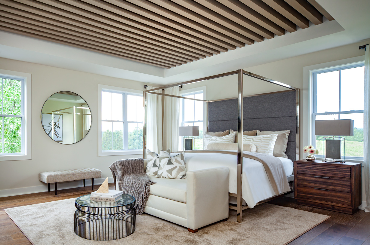 Light-filled spacious primary bedroom suite