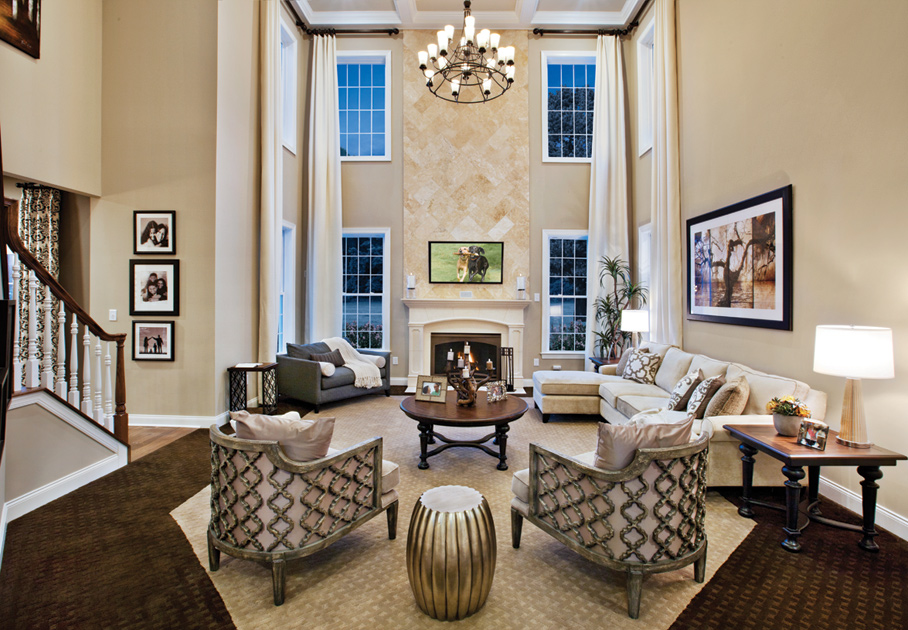 High oaks estates luxury new homes in walpole ma Model home family room pictures