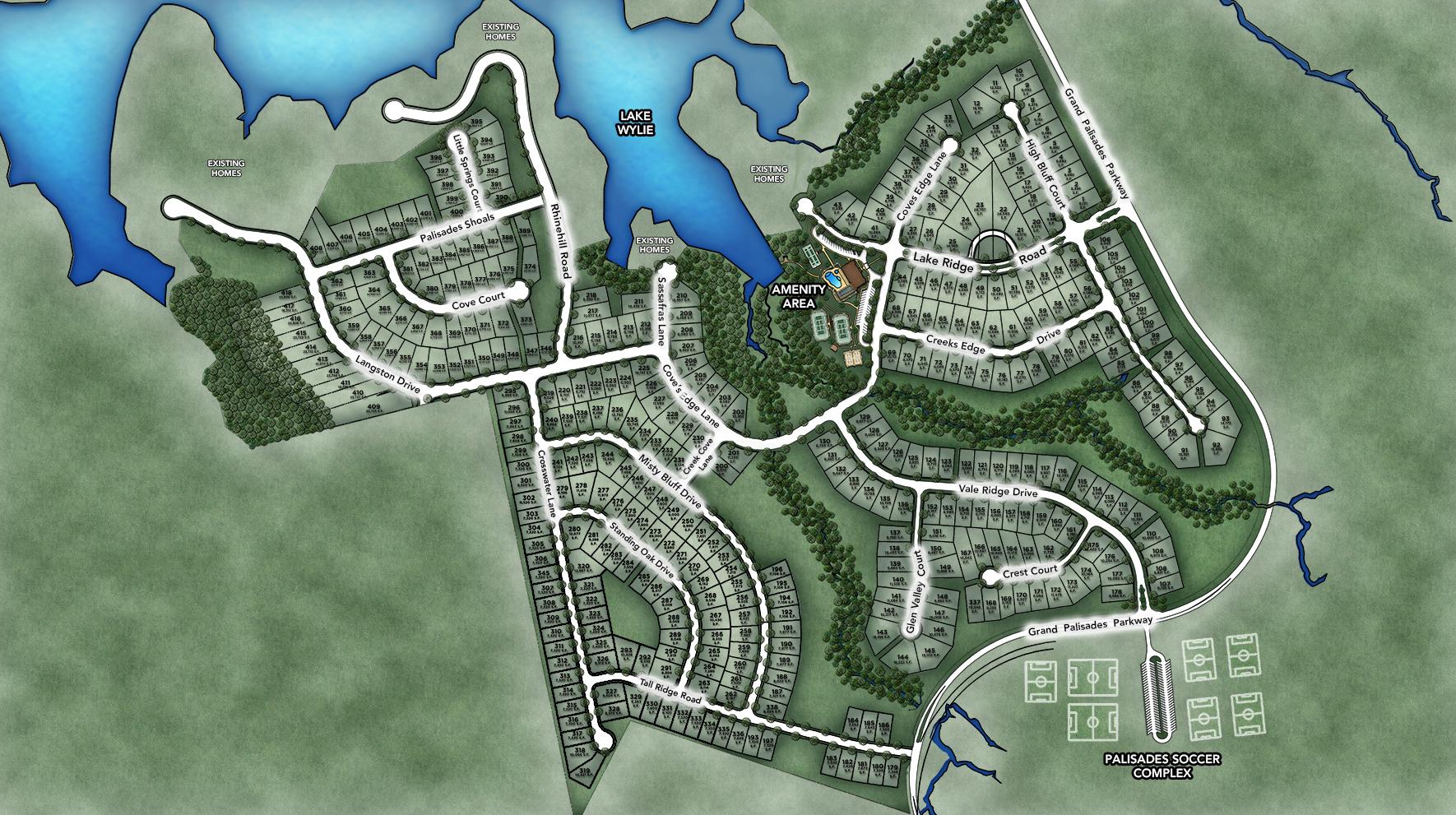 Regency at Palisades Site Plan