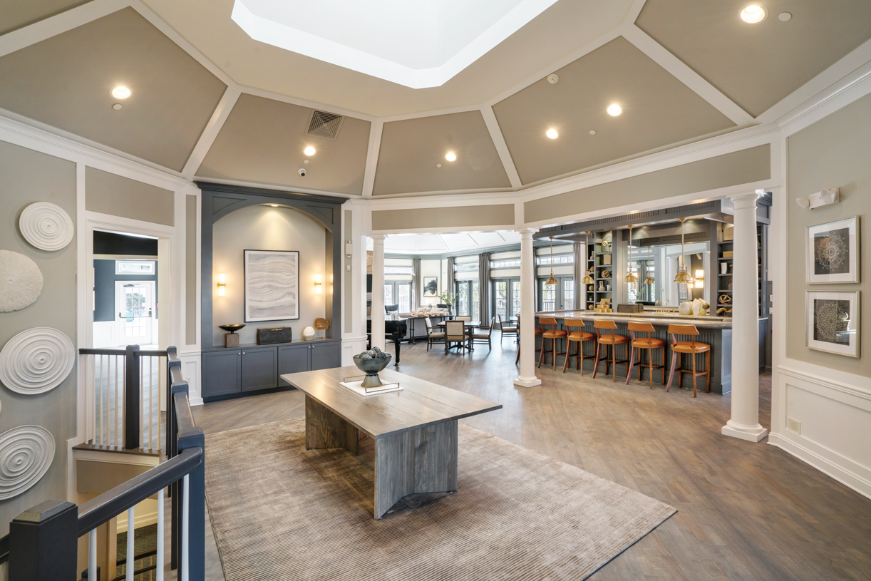 Stunning clubhouse foyer