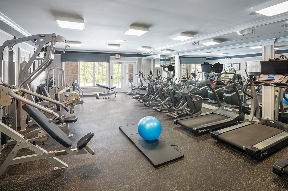 Stay fit at the state-of-the-art fitness center