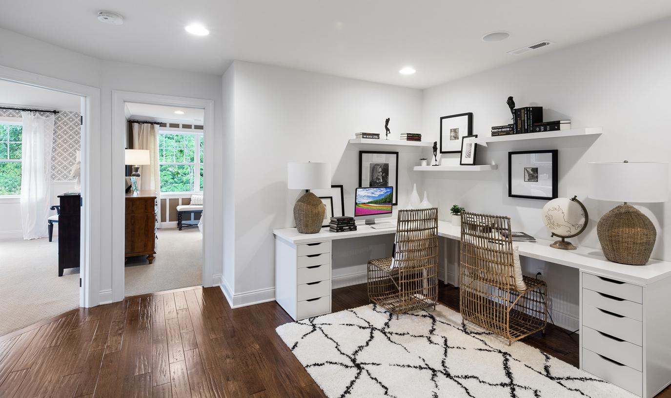 Loft for cozy office nook