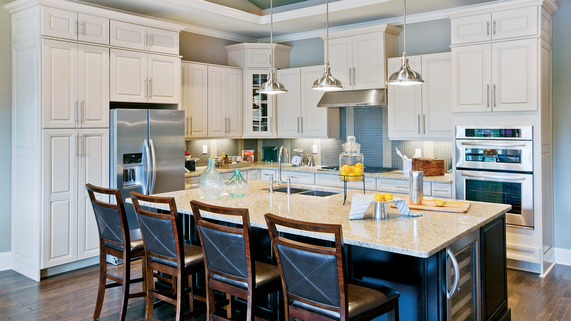 Enjoy cooking in your sunlit kitchen with ample counter space and large center island
