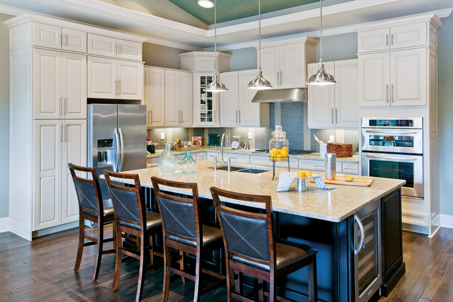 Enjoy cooking in your sunlit kitchen with ample counter space and large center island.