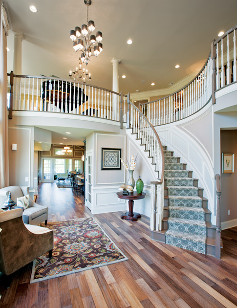 Elegant House Foyer : New luxury homes for sale in newtown pa enclave at