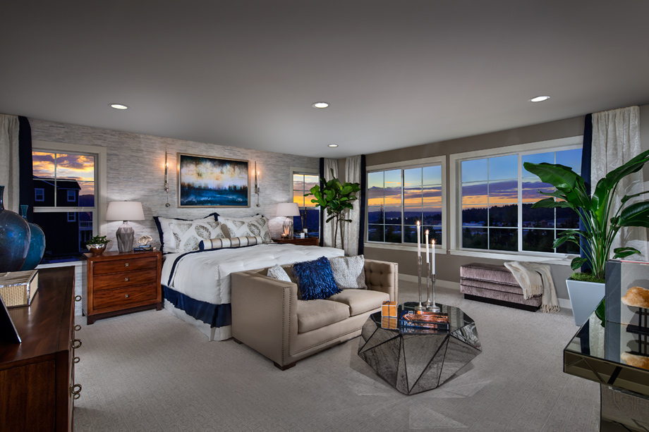 new luxury homes for sale in issaquah wa pinecrest at 12503 | toll brothers master bedroom wall design idea 920