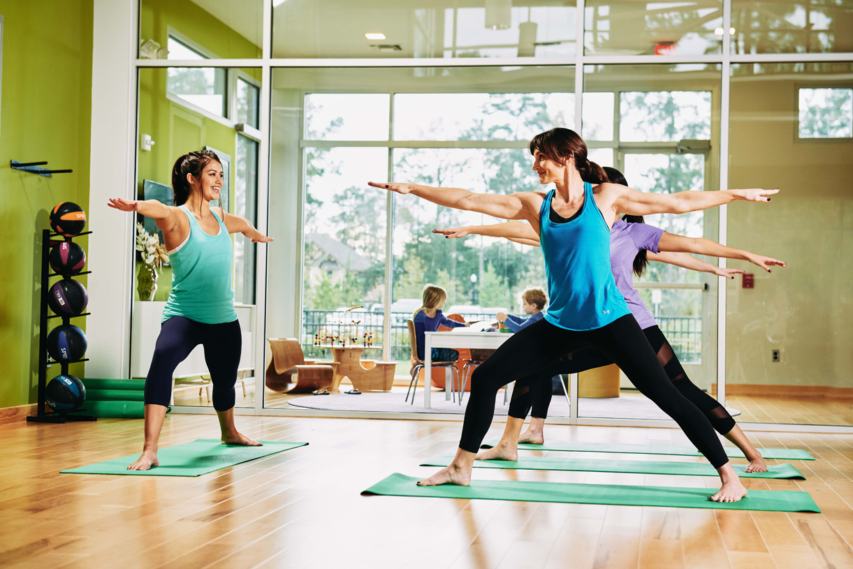 Onsite 24-hour fitness center with many classes and activities