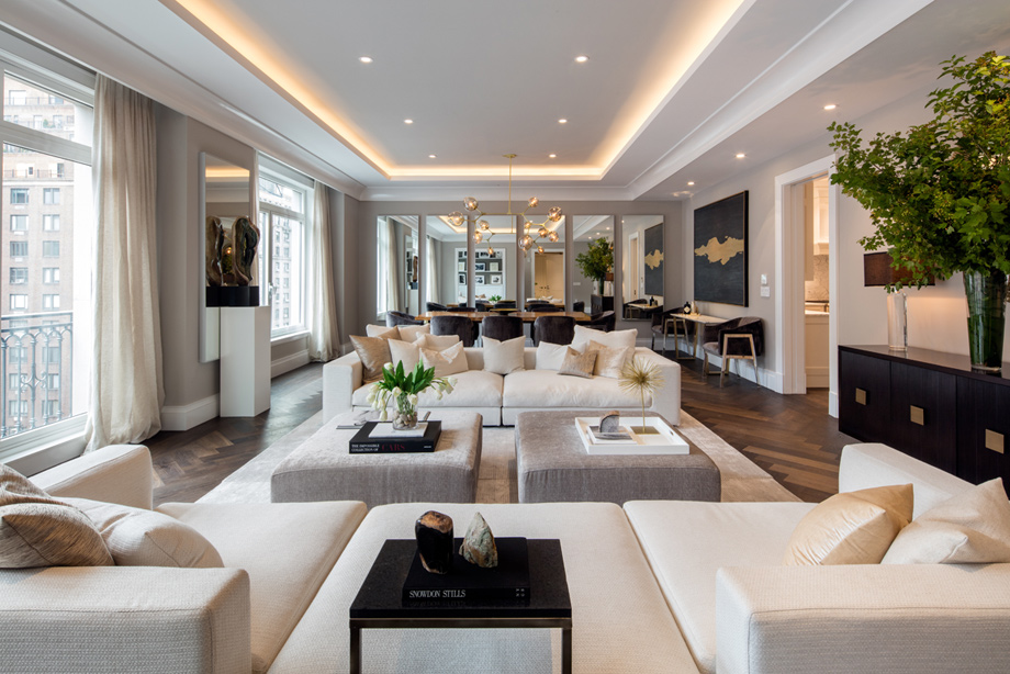 Bright And Airy Living Rooms With Soaring Ceilings Impressive Views Of Park Avenue