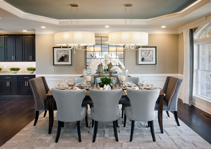 New luxury homes for sale in harleysville pa reserve at for Model home dining room