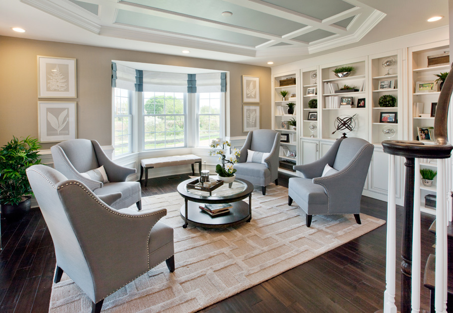 New luxury homes for sale in harleysville pa reserve at for Model home living room