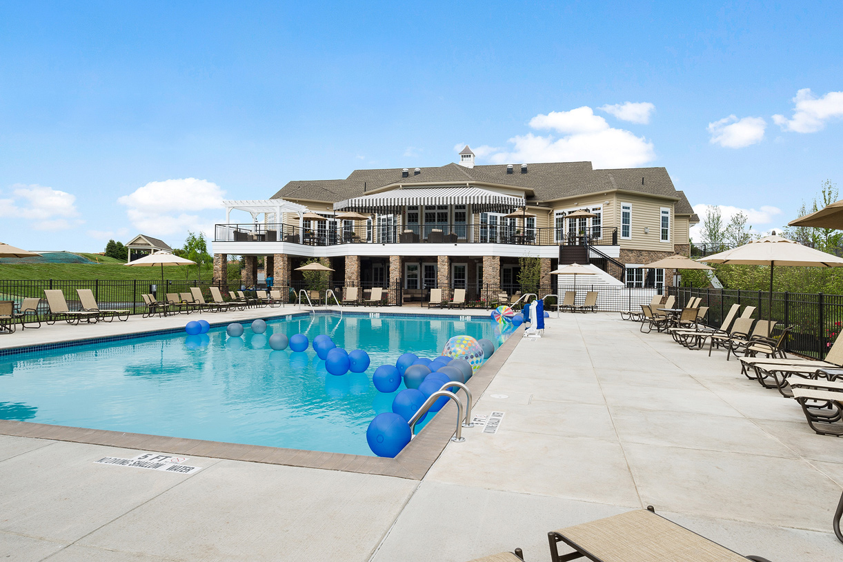 In the summer months enjoy spending time at the clubhouse outdoor pool