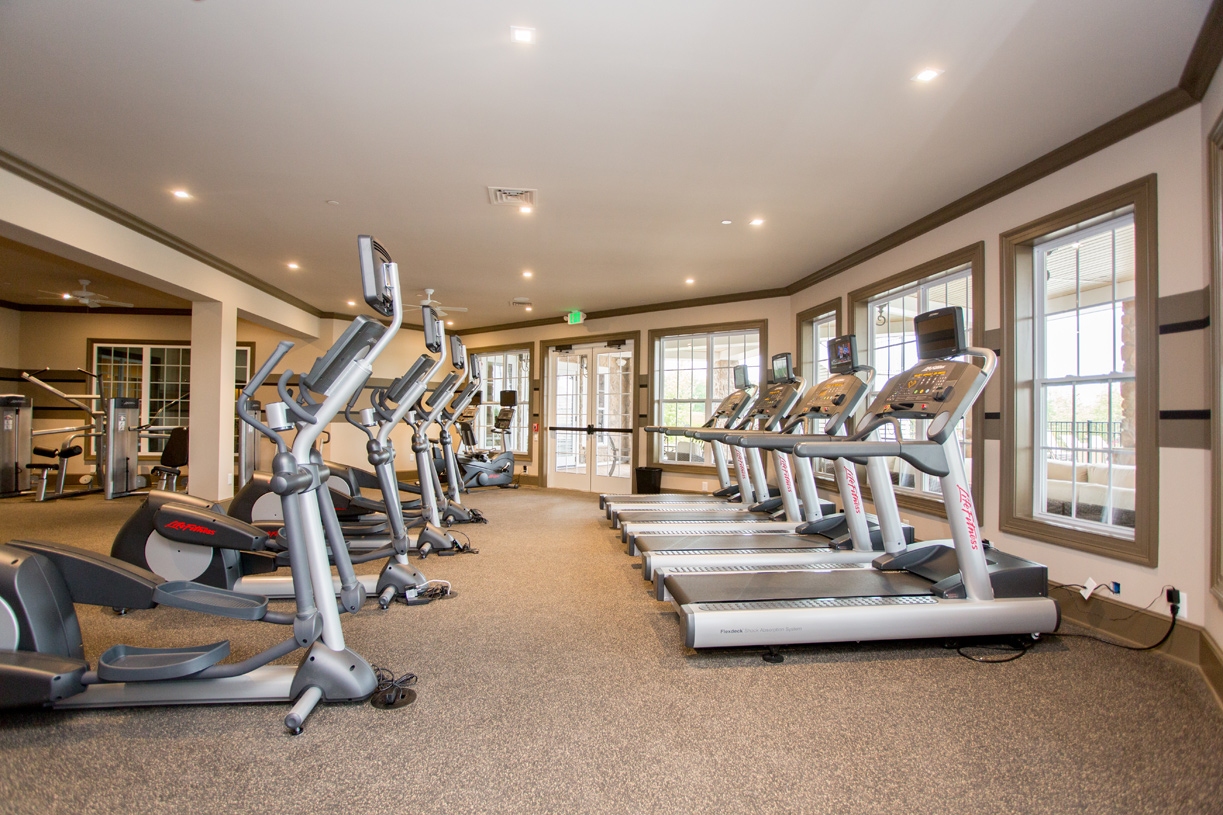 Get your cardio in when you go to the workout room at the clubhouse
