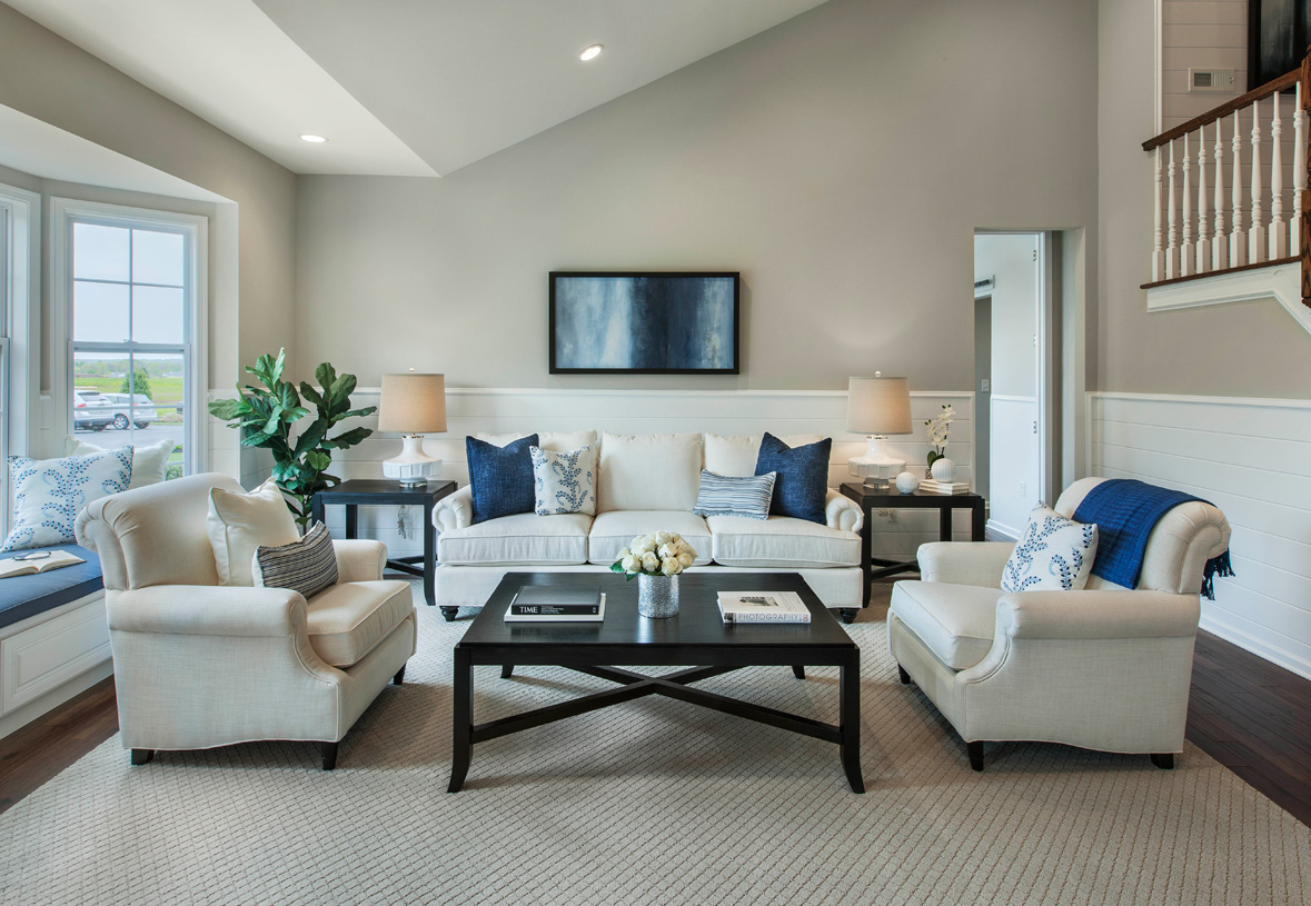 Living rooms provide the perfect setting for relaxing